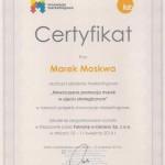 Certyfikat innowacje marketingowe